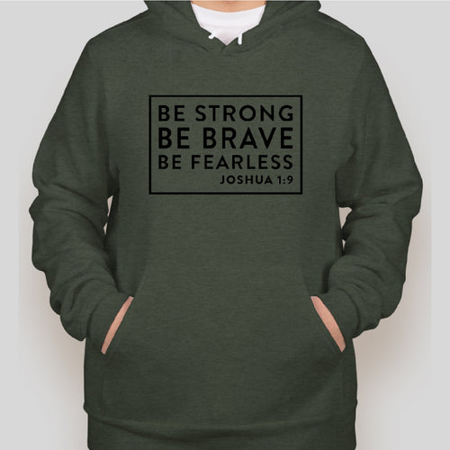 BE STRONG Bella Sweatshirt MILITARY GREEN