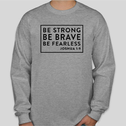 BE STRONG Gildan Long Sleeve SPORTS GREY