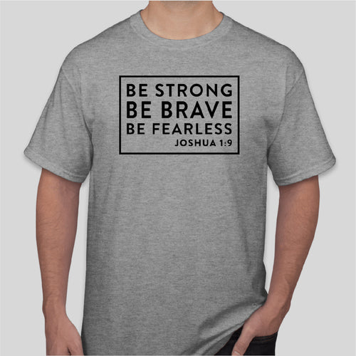 BE STRONG Gildan Short Sleeve SPORTS GREY