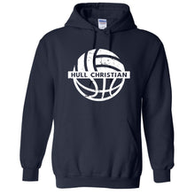 Load image into Gallery viewer, Gildan Hooded Sweatshirt Navy (HCS Basketball & Volleyball)