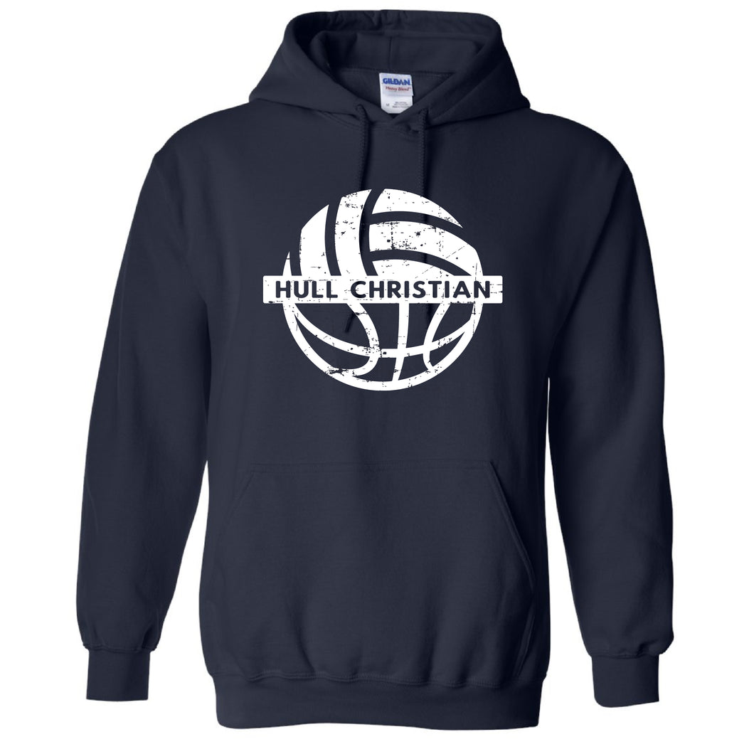 Gildan Hooded Sweatshirt Navy (HCS Basketball & Volleyball)
