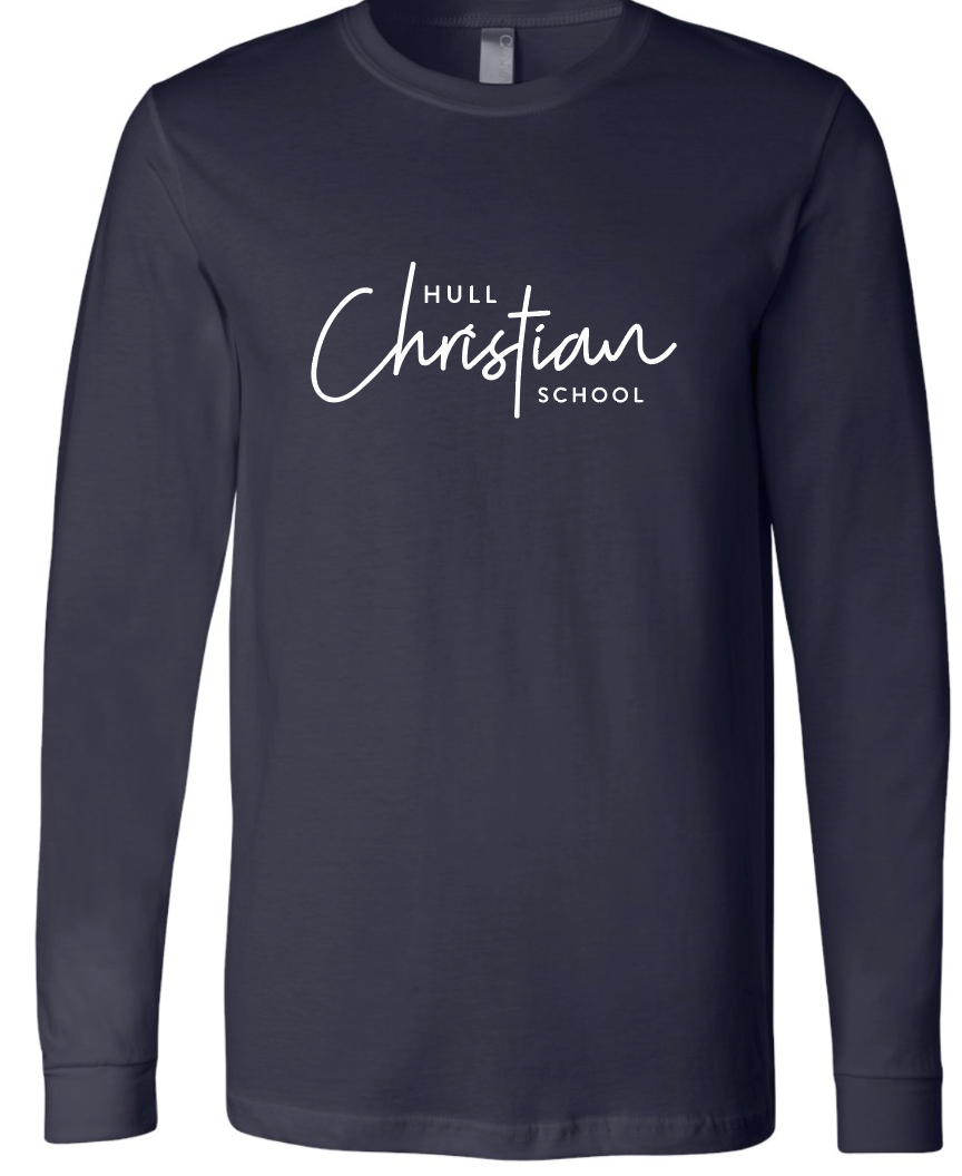 Hull Christian School Script LS Bella - Navy