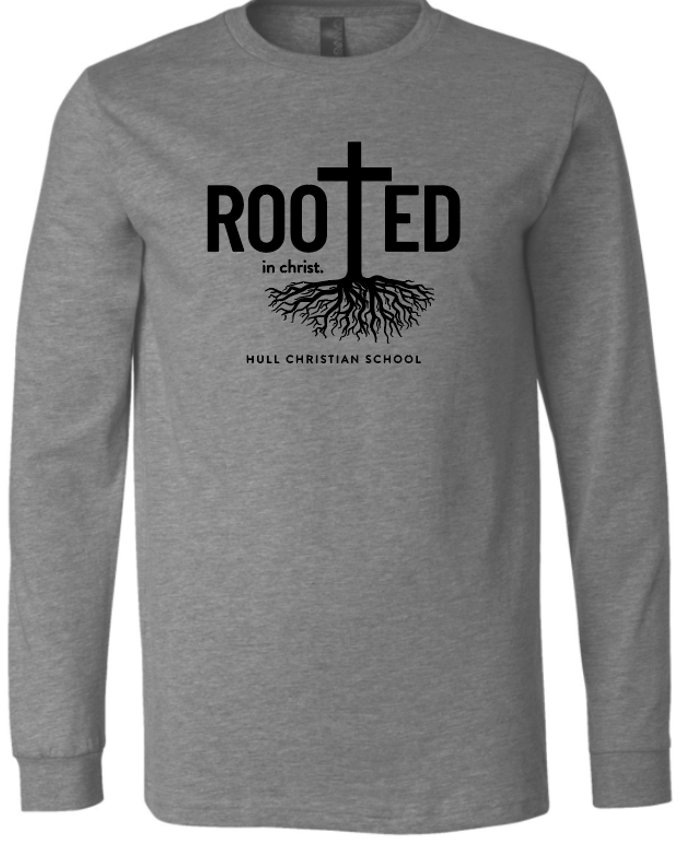 Rooted in Christ Hull Christian School Script LS Bella - Grey