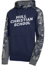 Load image into Gallery viewer, Hull Christian School Sport-Tek Adult White & Grey Sweatshirt