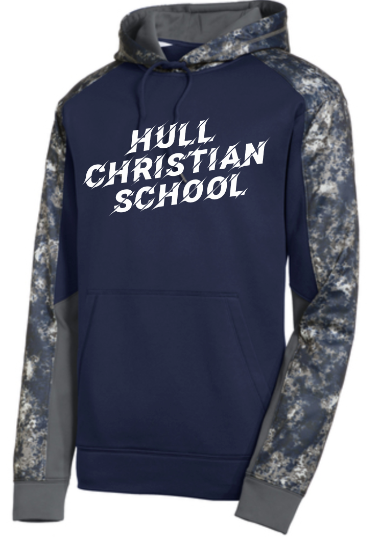 Hull Christian School Sport-Tek Adult White & Grey Sweatshirt