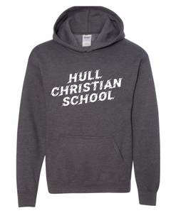 Hull Christian School Gildan Cotton Hoodie - GREY