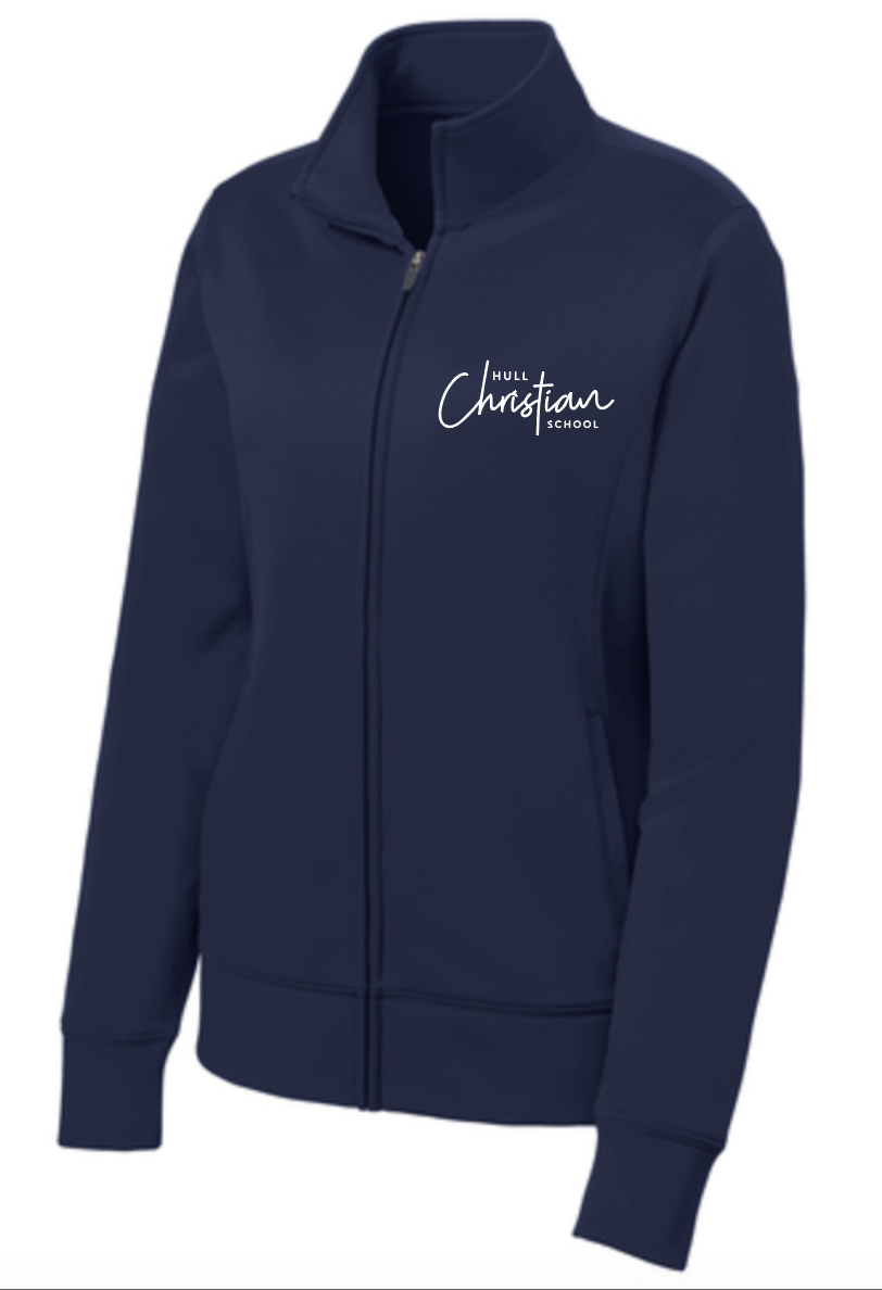 Hull Christian School Sport-Tek® Ladies Fleece Full-Zip Jacket