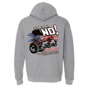 She Said NO Gildan Hooded Sweatshirt - GREY