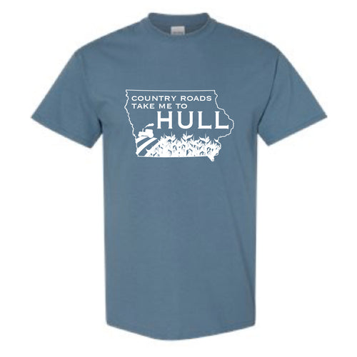 Hull Summerfest Country Roads Take me to Hull Graphic Tee BLUE