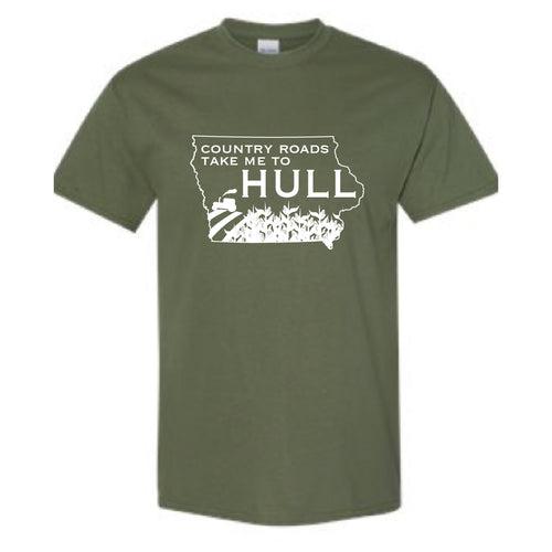 Hull Summerfest Country Roads Take me to Hull Graphic Tee OLIVE