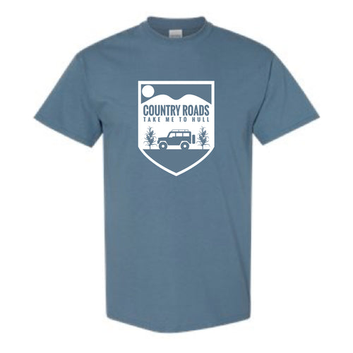 Hull Summerfest Country Roads Take me to Hull Graphic Tee BLUE #2