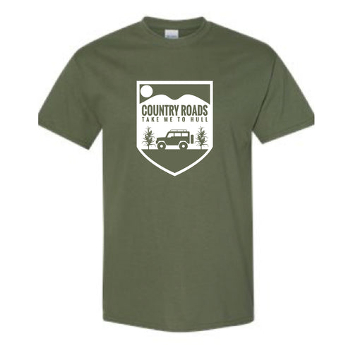 Hull Summerfest Country Roads Take me to Hull Graphic Tee OLIVE #2