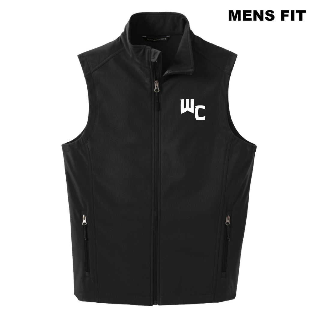 WC MEN'S FIT Black Port Authority Core Soft Shell Vest
