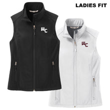 Load image into Gallery viewer, WC LADIES FIT Black or White Port Authority Core Soft Shell Vest