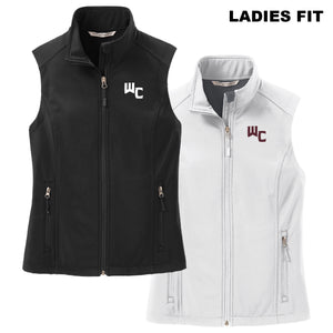 WC LADIES FIT Black or White Port Authority Core Soft Shell Vest
