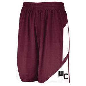 Youth & Adult Maroon WC Step-Back Basketball Shorts