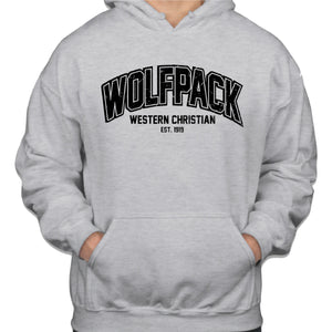 WOLFPACK Gildan Hooded Sweatshirt Ash Grey