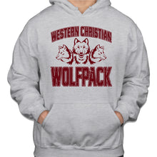 Load image into Gallery viewer, WOLFPACK Gildan Hooded Sweatshirt Ash Grey