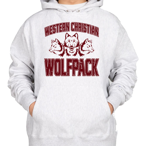 WOLFPACK Champion Reverse Weave Hooded Sweatshirt