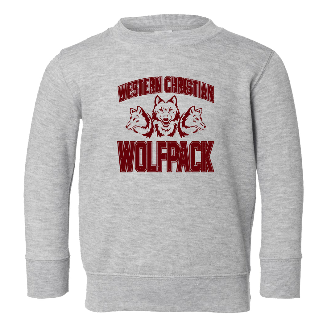 TODDLER & YOUTH Wolfpack MAROON Design Crew Sweatshirt