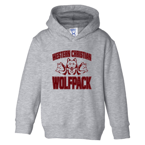 TODDLER & YOUTH Wolfpack MAROON Design Hooded Sweatshirt