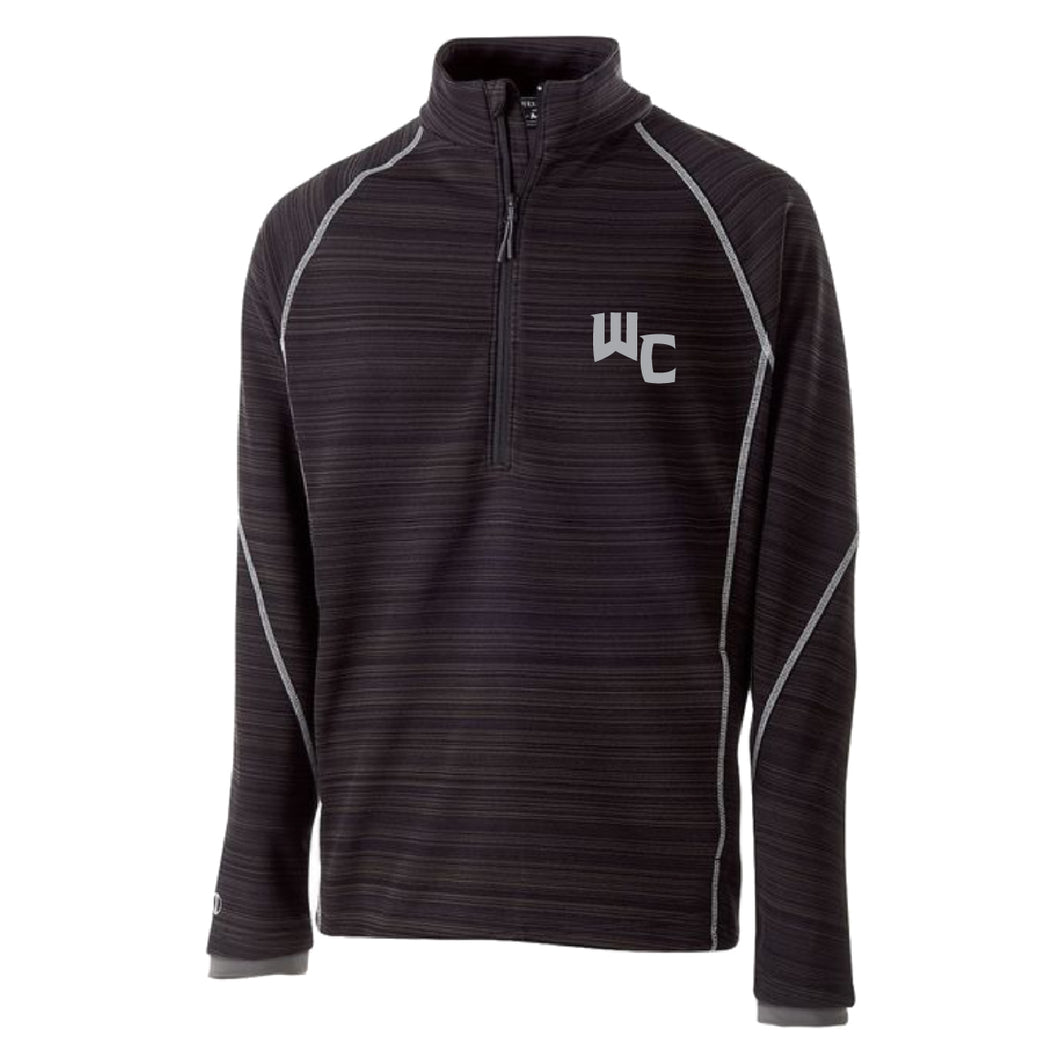 Augusta Deviate 1/4 Zip Pull Over BLACK WC Christmas