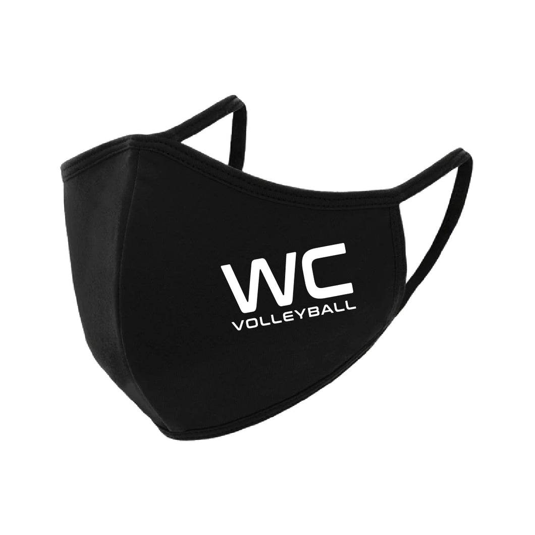 Cotton Adult Face Mask WC | Tri-County Volleyball AAU