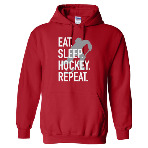 Eat. Sleep. Hockey. GILDAN HOODED SWEATSHIRT +more color options