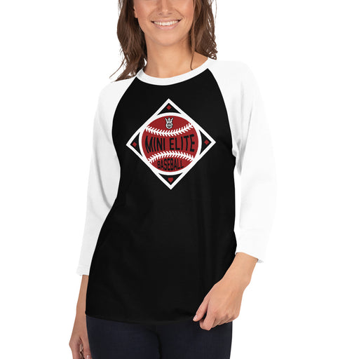Mini Elite - Women's 3/4 sleeve raglan shirt