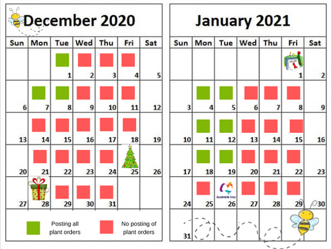 December and January posting schedule
