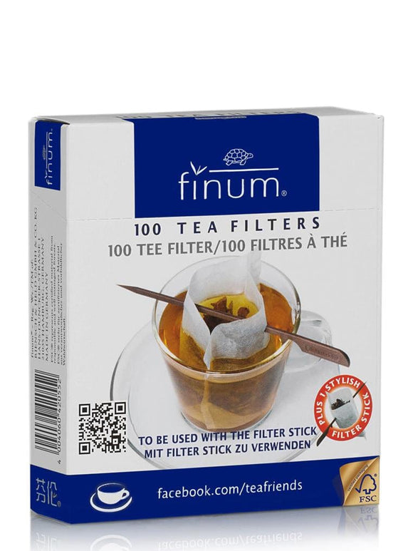 Finum 100 Paper Tea Cup Filters with Stick