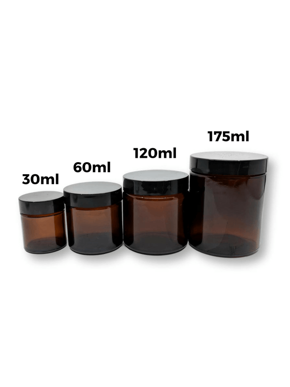 30ml Amber Glass Jar (Single)