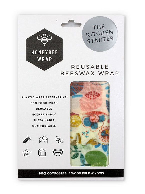 Reusable Beeswax Wrap - Set of 3 S/M/L