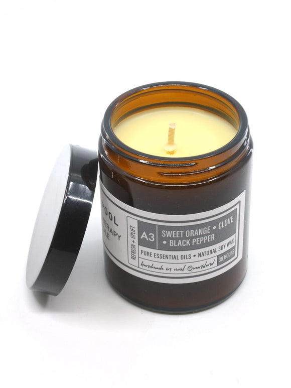 Natural Soy Candle - Sweet Orange, Clove & Black Pepper