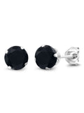 Blue Table - Silver 925  Round in Colors CZ Snap Earrings