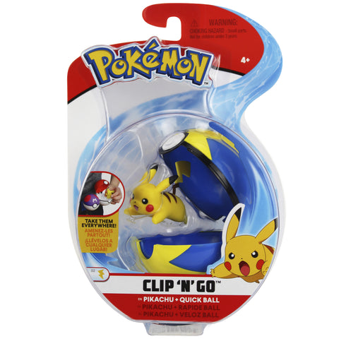 Pokemon Clip n' Go Quick Ball Pikachu