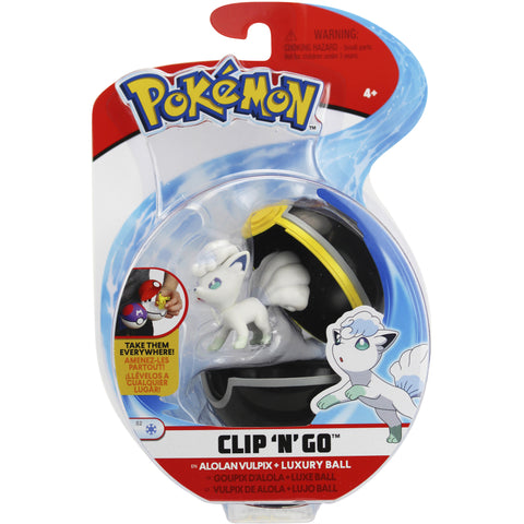 Pokemon Clip n' Go Luxury Ball Alolan Vulpix