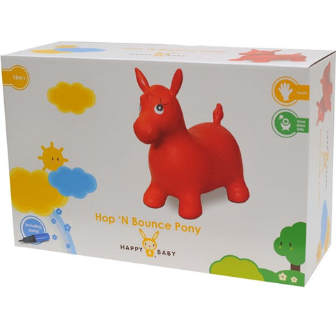 Happy Baby Hop N Bounce Pony Red w/Pump