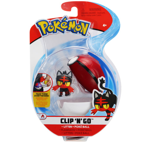 Pokemon Clip n' Go Poké Ball Litten