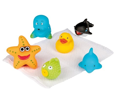 Happy Baby Bath Friends in Bag, 6,5cm