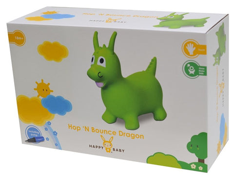 Happy Baby HB Hop n' Bounce Dragon Green w/Pump