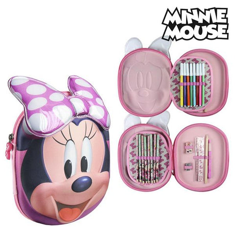 Tredobbelt Penalhus Minnie Mouse 8447 Pink