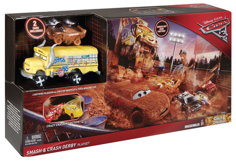 Cars 3 Smash and Crash Derby legesæt