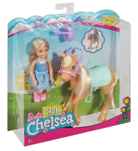 Barbie Club Chelsea og Pony
