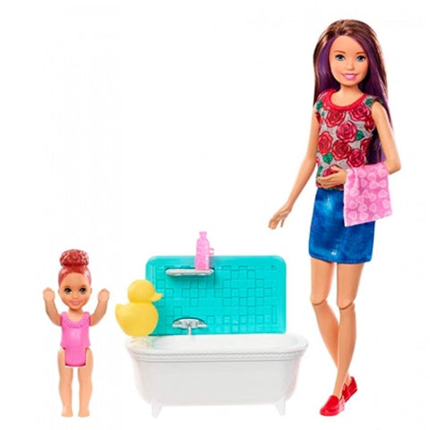 Barbie Skipper Babysitter Barn & Badekar