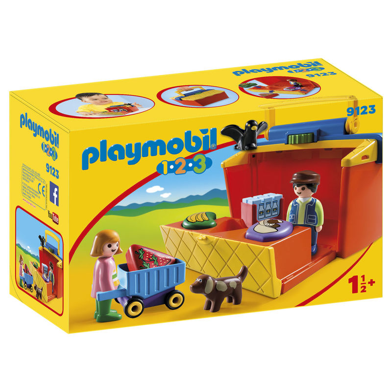 Playmobil 1.2.3 9123 Markedsbod take along
