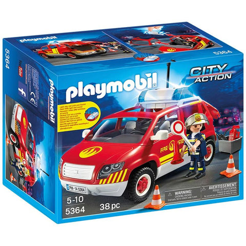 Playmobil City Action 5364 Brandchefens bil med blink og lys