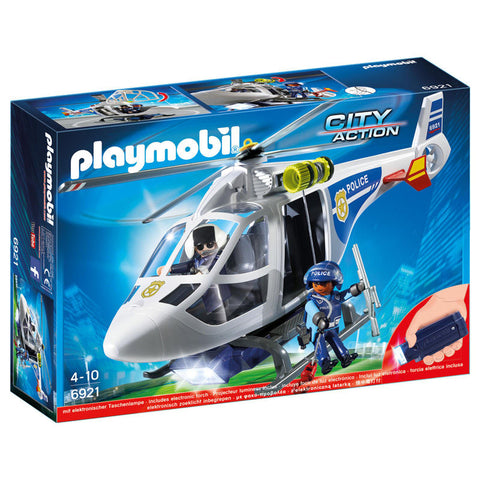 Playmobil City Action 6921 Politihelikopter med LED lys