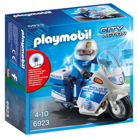 Playmobil City Action 6923 - Politimotorcykel Med Led Lys