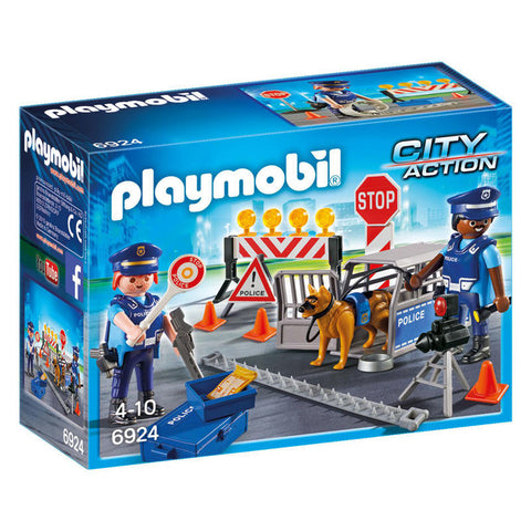 Playmobil City Action 6924 Politi Vejspærring